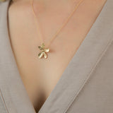 Sweet Sakura Cherry Blossom Gold Necklace