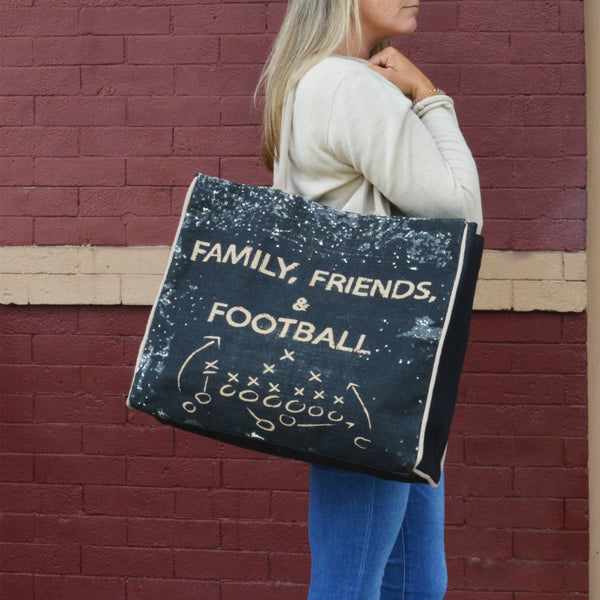 Family, Friends & Football Tote Bag