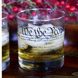 Declaration and Constitution Rocks Glass Set