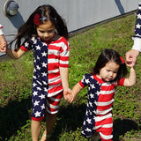Stars and Stripes Patriotic Toddler Onesie