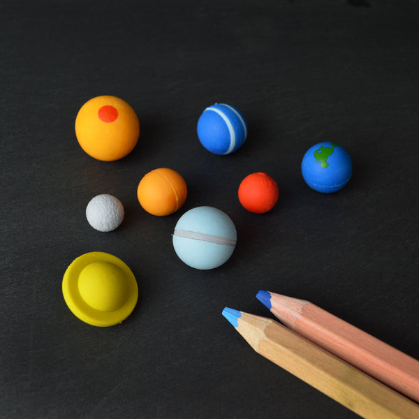8 Planet Solar System Erasers