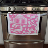Pink Cherry Blossom Tea Towel