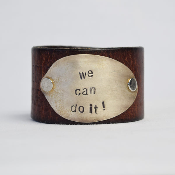 We Can Do It! Leather Cuff