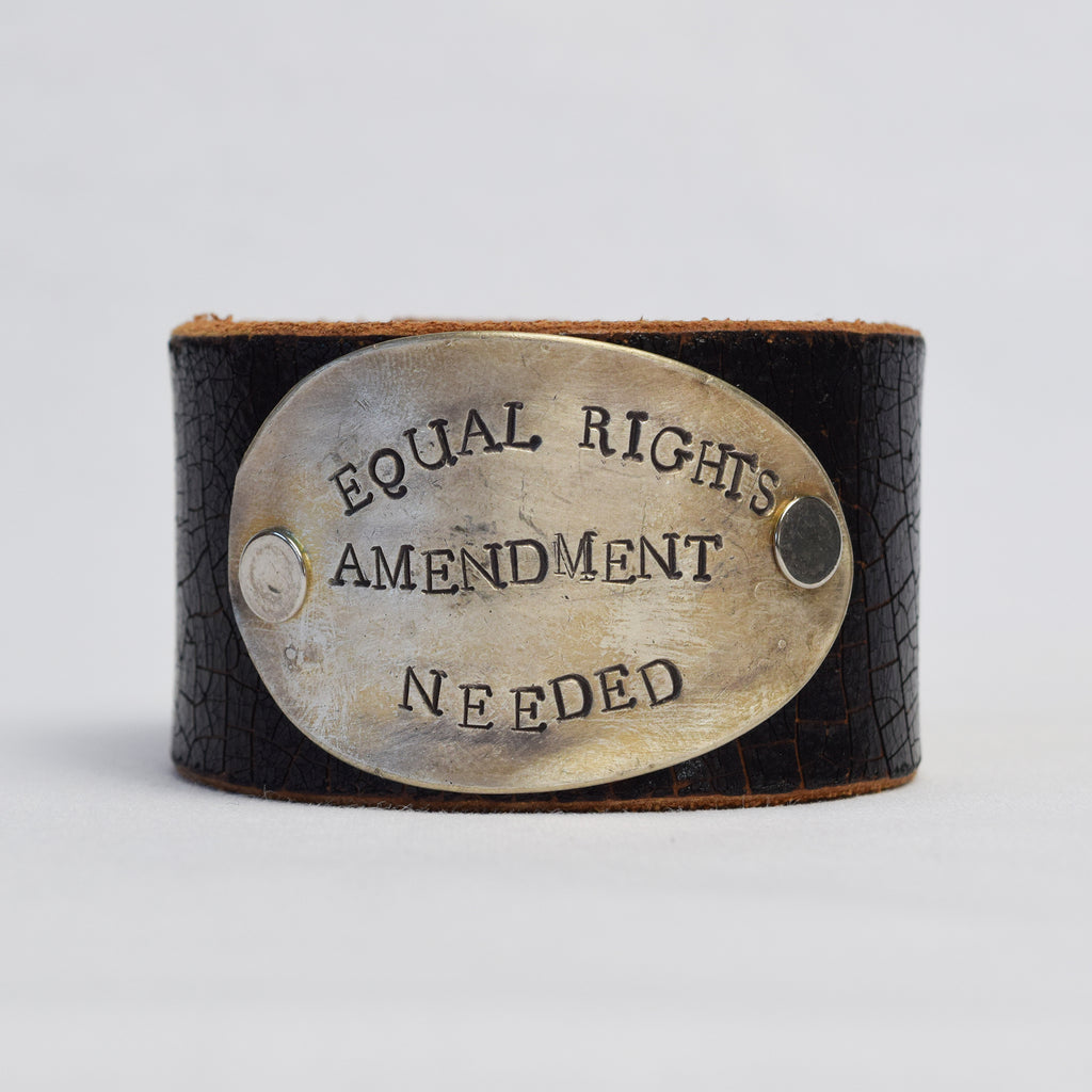 Equal Rights Amendment Needed Leather Cuff