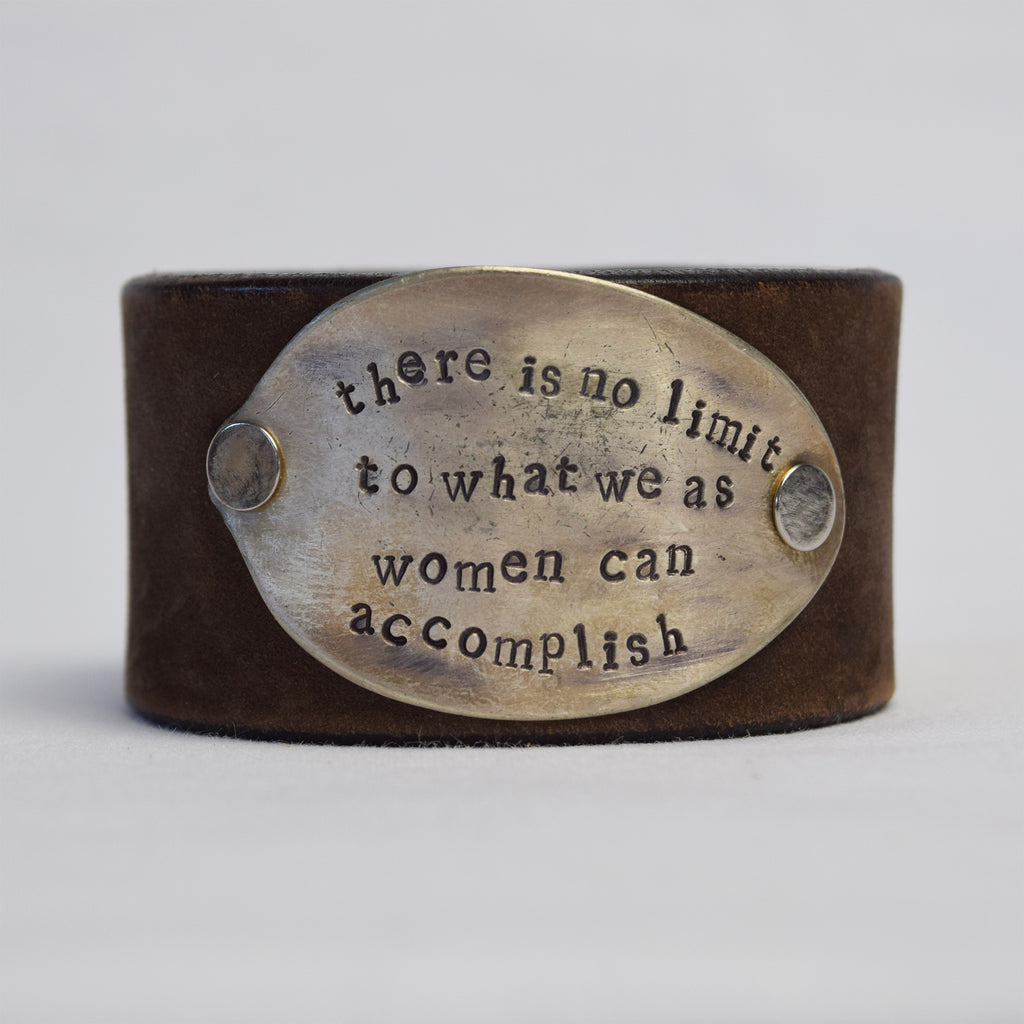 There is No Limit Leather Cuff