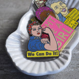 Rosie We Can Do It Enamel Pin