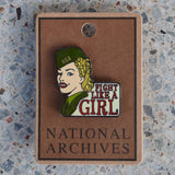 Fight Like an Army Girl Enamel Pin
