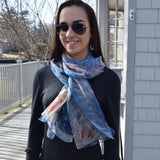 The Avenue in the Rain Rectangle Scarf
