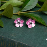 Pink Blossom Post Earrings