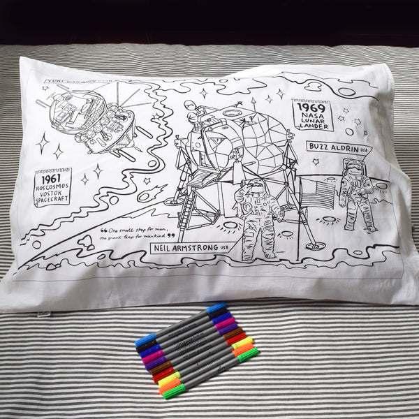 Color Your Own Space Explorer Pillowcase