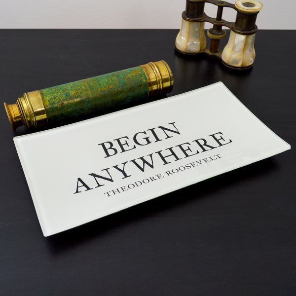 Begin Anywhere Glass Decoupage Tray: 4 X 9 inches