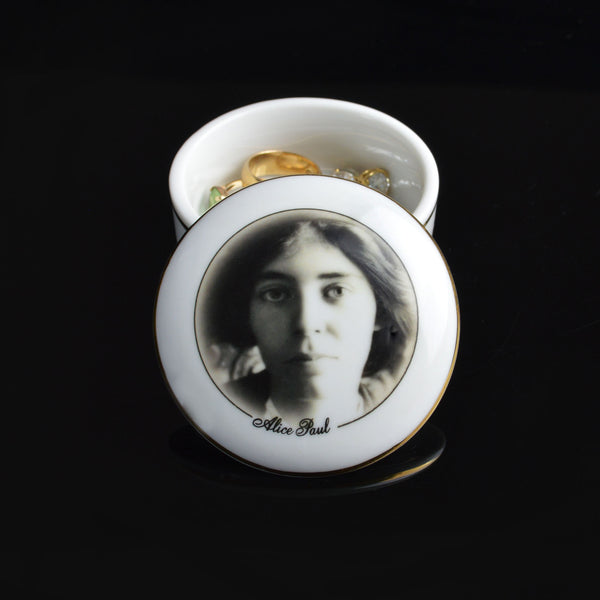 Alice Paul Porcelain Box with Lid