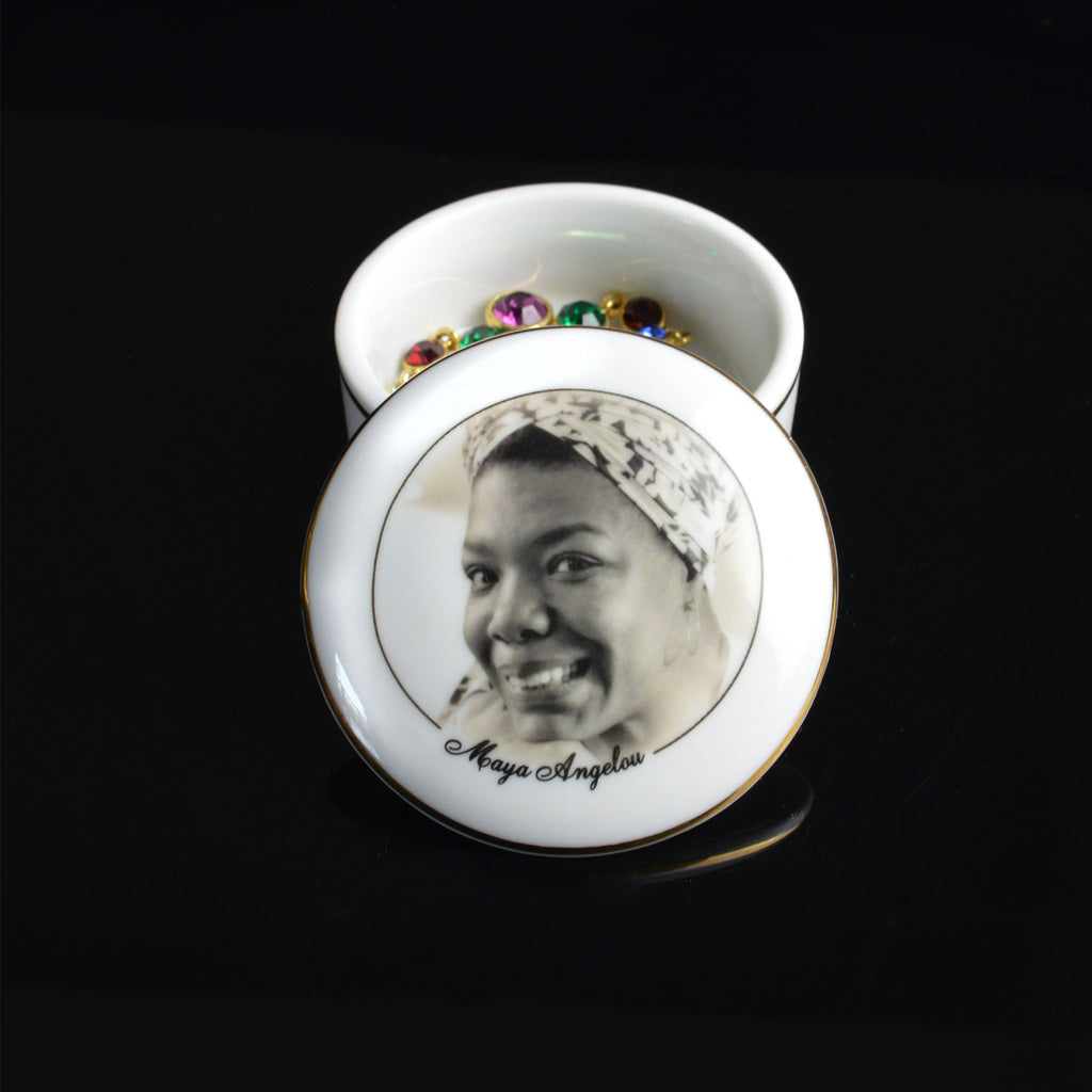 Maya Angelou Porcelain Box with Lid