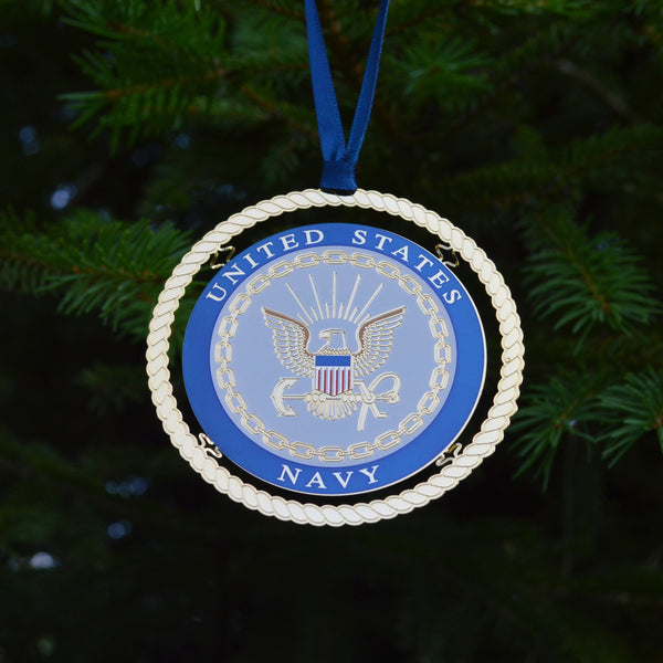 U.S. Navy Brass Ornament