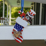Patriotic Stocking Ornament