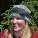 Flapper Hat with Curl Detail