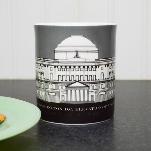 Capitol Plans 11 Ounce Gray Mug