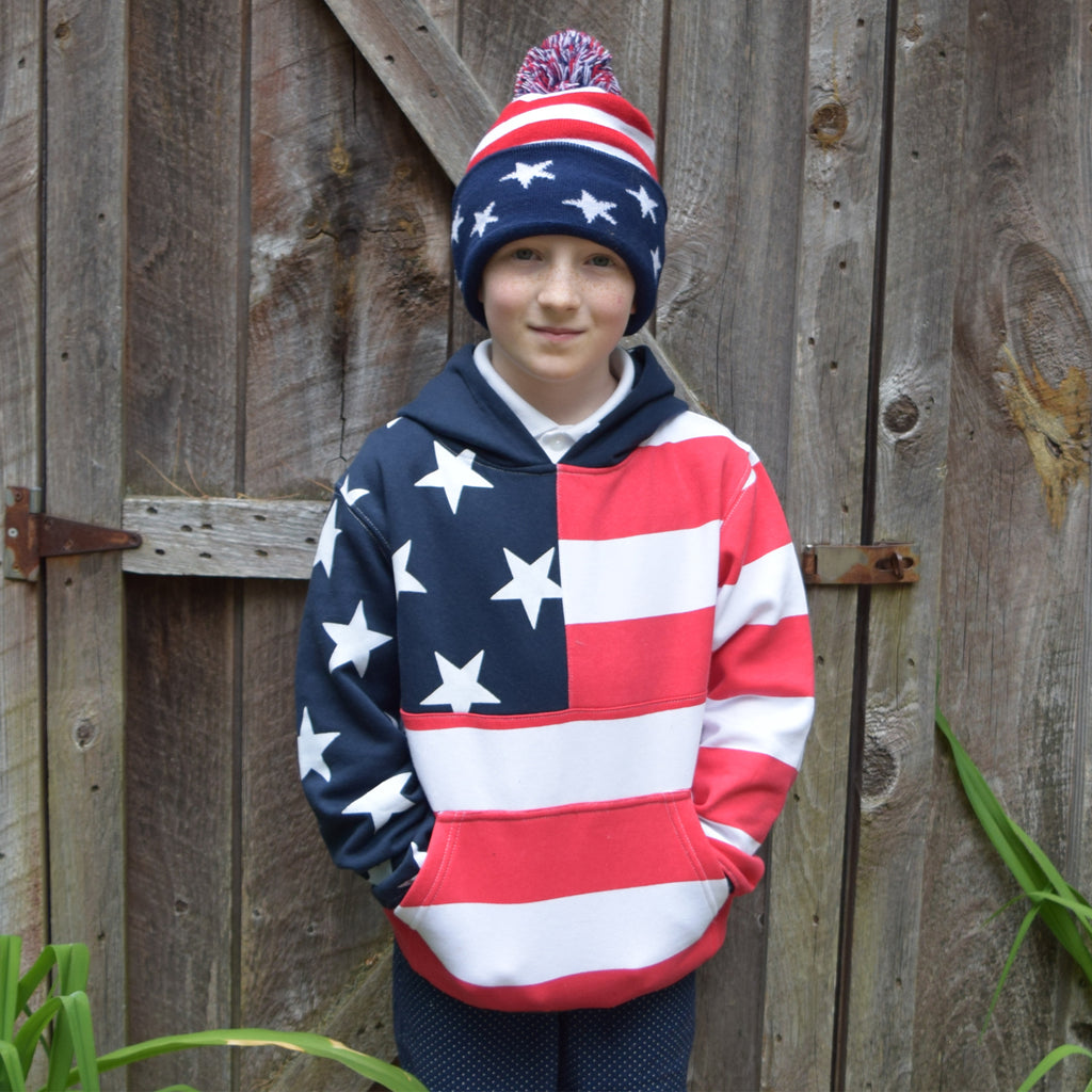Patriotic Flag Youth Hoodie