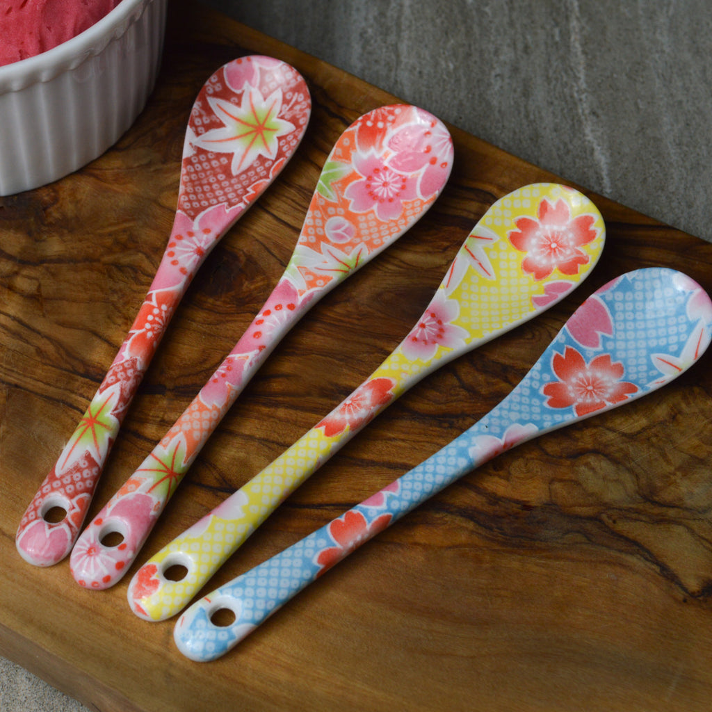Bright Blossom Dessert Spoon Set