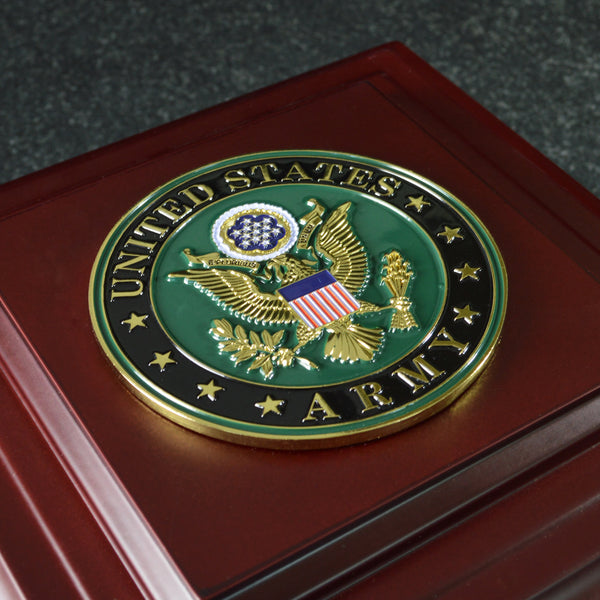 U.S. Army Medallion Wooden Box