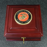 U.S. Marine Corps Medallion Wooden Box