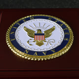 U.S. Navy Medallion Wooden Box