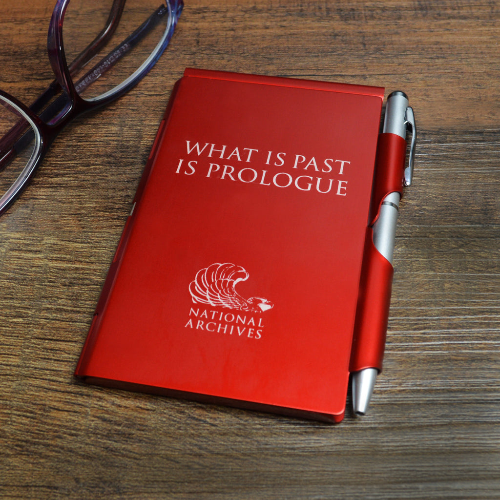 What is Past is Prologue Flip Note with Pen