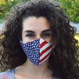 Stars and Stripes Womens Cotton Facemask