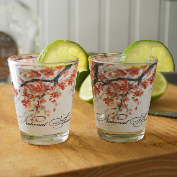 Cherry Blossom Shot Glass: Set of 2
