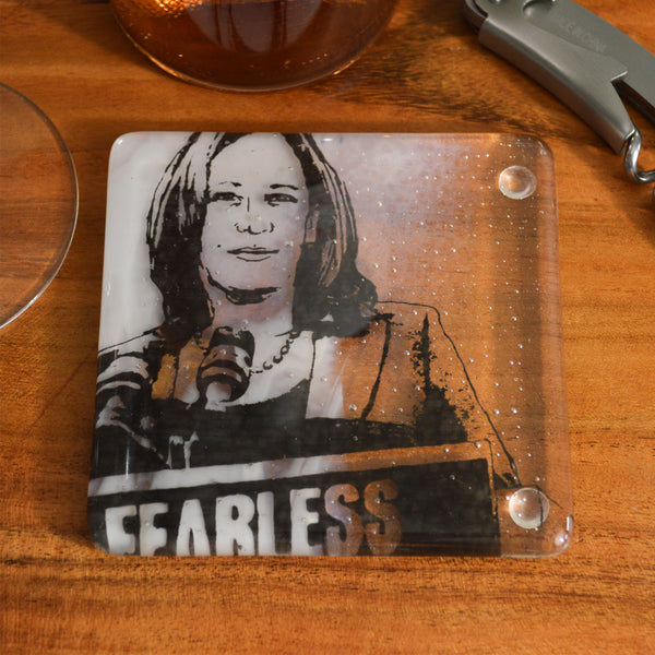 Vice President Harris Fused Glass Coaster
