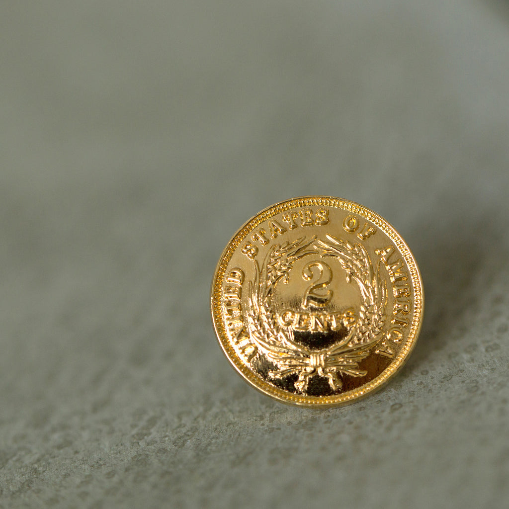 2 Cents Lapel Pin