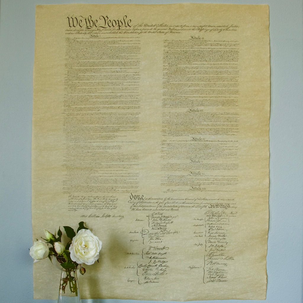 U.S. Constitution Poster 1 Page