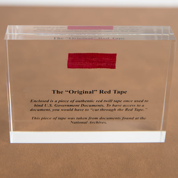 Red Tape Paperweight