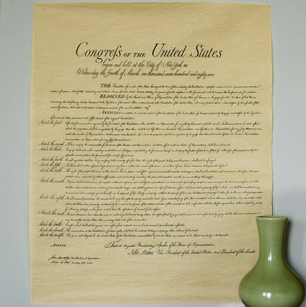 Bill of Rights Reproduction