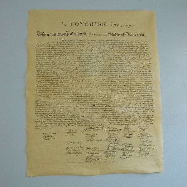 picture about Printable Declaration of Independence called Declaration of Flexibility Comprehensive Dimensions Duplicate