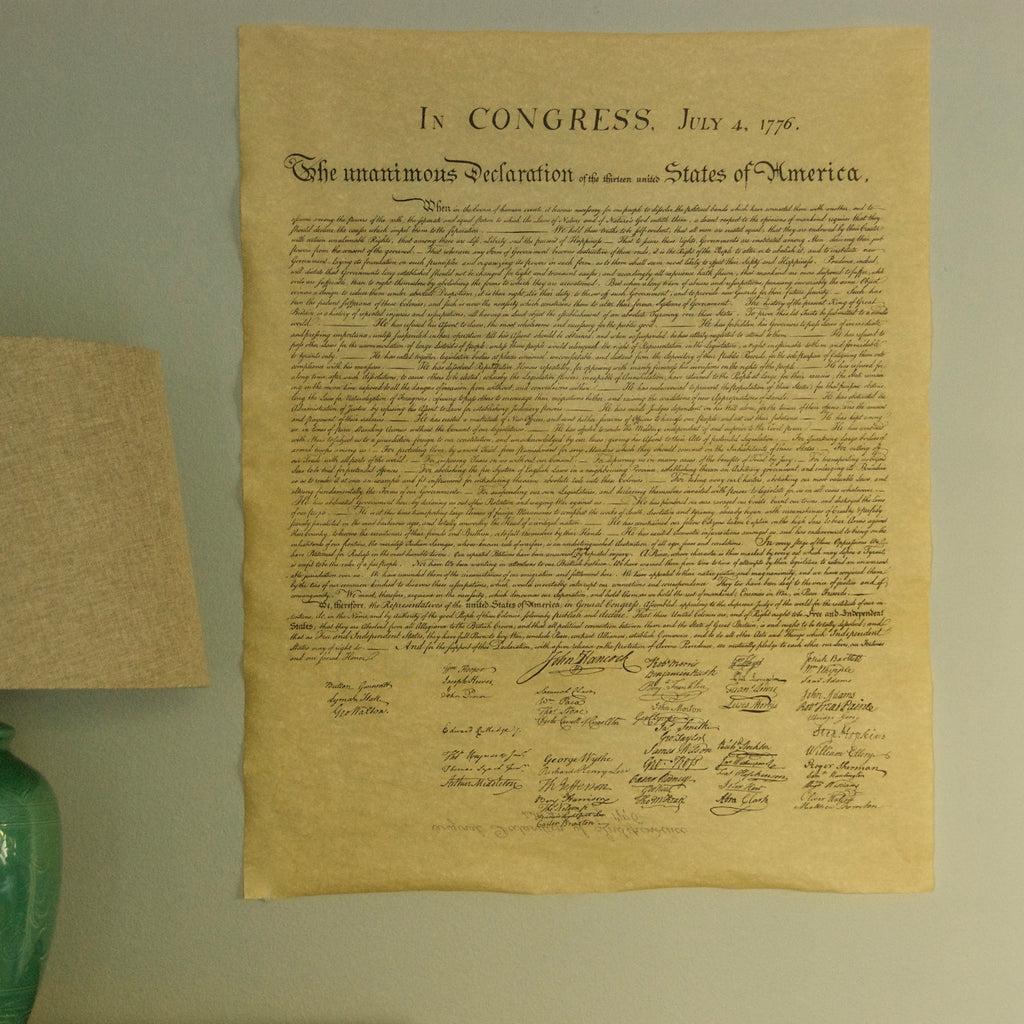 graphic about Printable Copy of the Declaration of Independence called Declaration of Flexibility Finish Dimensions Replica