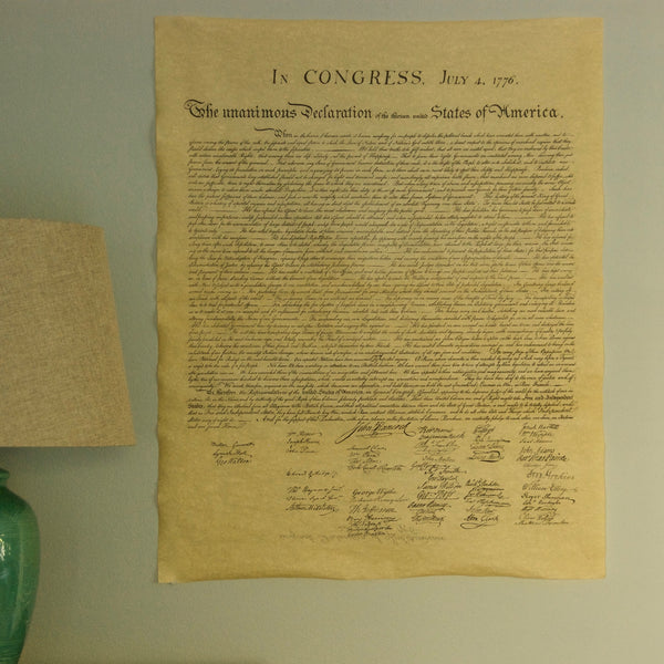 Declaration of Independence Full Size Reproduction