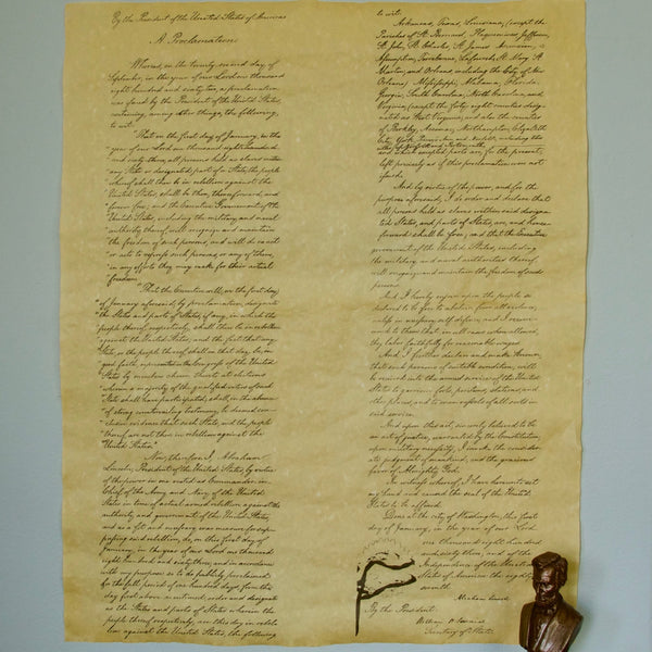Emancipation Proclamation Full Size Reproduction