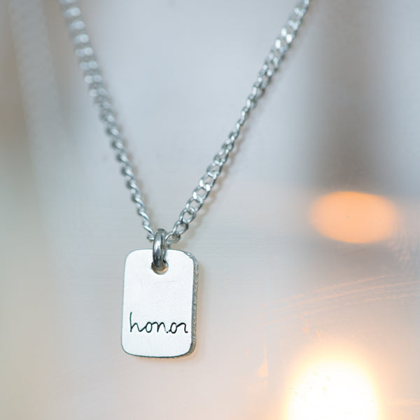 Peace and Honor Silver Pendant Necklaces