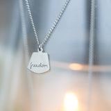 United, Freedom, and Liberty Silver Pendant Necklaces