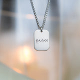 Freedom, Peace, and Honor Silver Pendant Necklaces