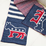 Striped Democrat Winter Scarf