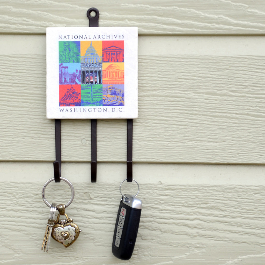 Capital Landmarks Art Key Rack