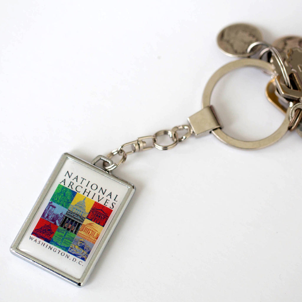 Capital Landmarks Art Keychain