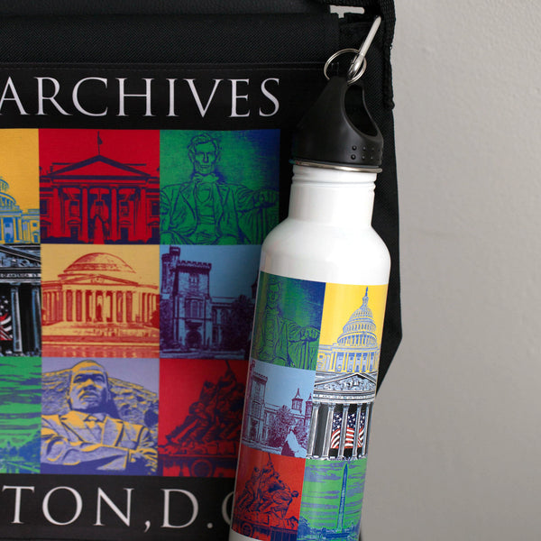 Messenger Bag Capital Landmarks Art