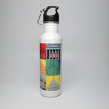 Capital Landmarks Art Water Bottle