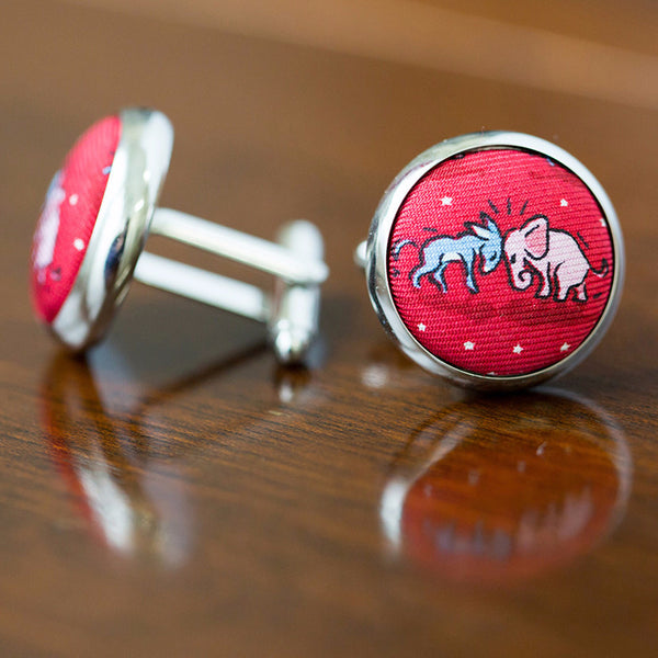 Cuff Links Donkey Elephant