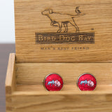 Donkey & Elephant Cuff Links Red