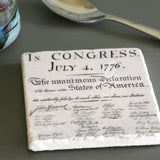 Declaration of Independence Tile Coaster