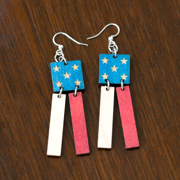 Earrings American Flag